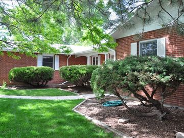 This red brick home is located near the Thompson Valley Towne Center
