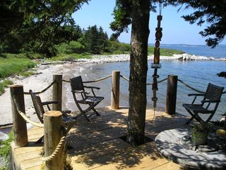 St Margaret's Bay house photo - Cliffside patio with sandy beach access