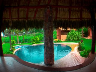 Troncones villa photo - palapa view