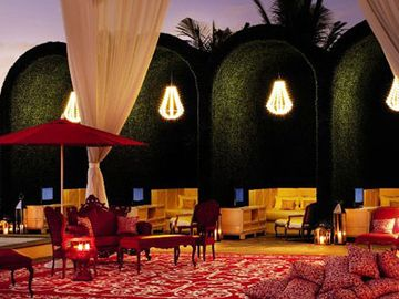 Private Cabanas at night