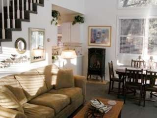 Durango cottage photo - Comfy living room, high ceilings, gas fireplace