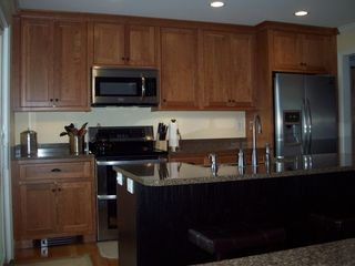 North Conway house photo - Inset Cherry Cabinets with Stainless Steel Appliances-Completely renovated 2012