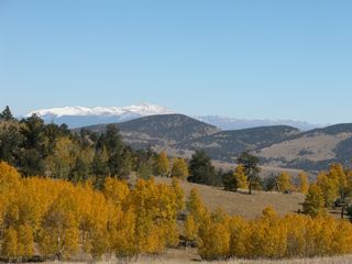 Guffey farmhouse photo - View of Pikes Peak 25+ mi. from ranch