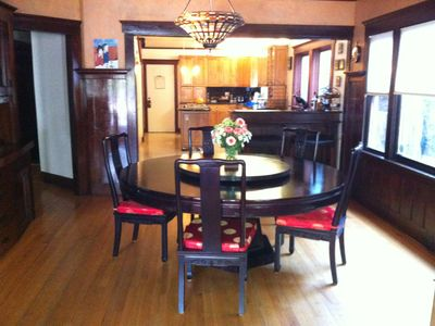 FORMAL DINING ROOM WITH GREAT PLATE WARE. 4 MORE MATCHING CHAIRS IN THE HOUSE.