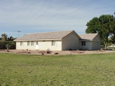 Stucco ranch on 2 beautiful acres