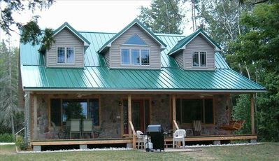 Beautiful Lakefront Home with Pontoon on S. Manistique Lake