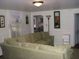 Cape May house photo - 1st floor sitting area w/flat screen TV adjoins kitchen