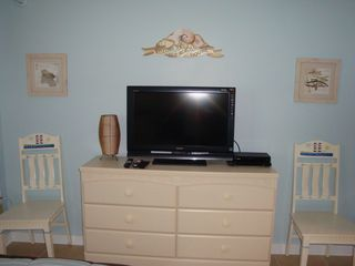 Wildwood Crest condo photo - 32 inch LCD with DVD player and HD digital Cable in Bedroom.