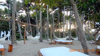 The hammocks on Serenity Beach are sooo relaxing!