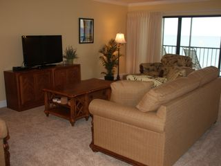 Boca Grande condo photo - Living Room With Exceptional View of Beach and Gulf of Mexico