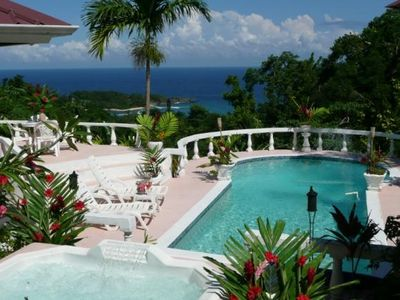 Port Antonio villa rental - Postcard views, pool and spa overlooking pvt. San San beach and Alligatorhead,