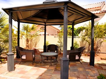 Huge Gazebo and very relaxing lounge area in the backyard.