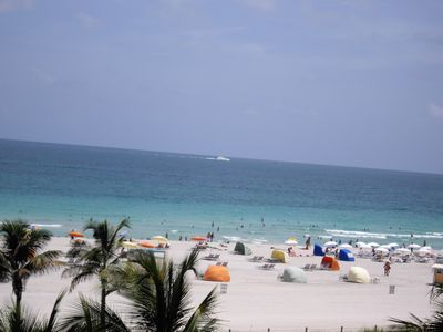 South Beach hotel rental - The beach is right accross the street