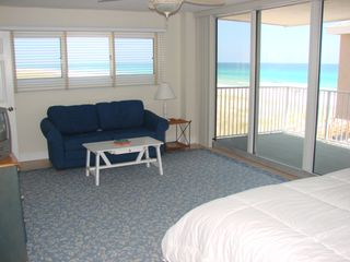 Pensacola Beach condo photo - Master bedroom with large balcony and Queen sofabed.