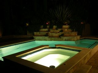 Lafayette villa photo - Pool and Waterfall at Night