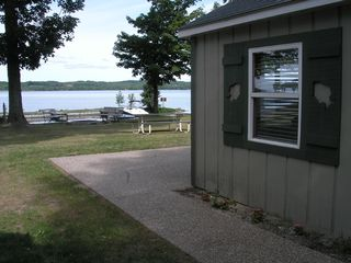 Lake Leelanau cottage photo - Looking at the lake from the side of cottage