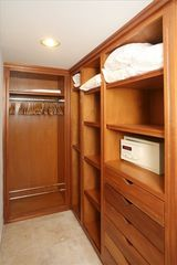 Cupecoy condo photo - Walk-in closet with safe off the Master bedroom