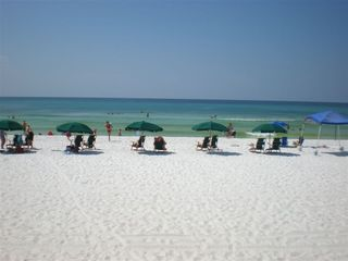 Okaloosa Island condo photo - On the beach with complimentary beach service from owners Mar 1.-Oct 31.
