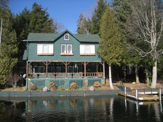Lake Placid house photo - Front view of house