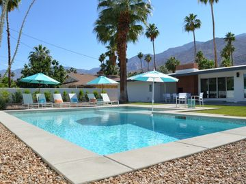 Palm Springs house rental - Oversized salt water pool!
