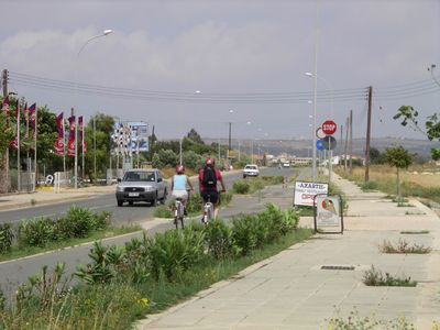 Cycle path to Ayia Napa