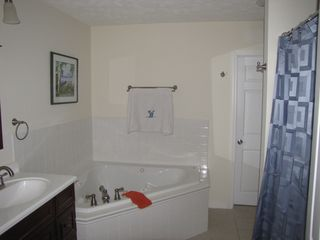 Cassopolis house photo - Kings Suite private bathroom with Jacuzzi tub (1 of 4 Bathrooms!)