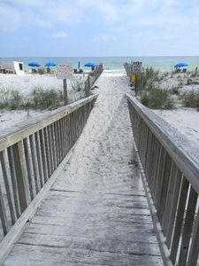 Boardwalk to beach - your gateway to paradise!