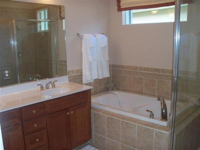 Lely house rental - Custom Tile Master Bathroom