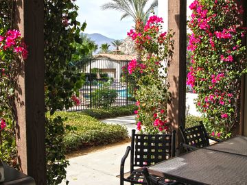 Indian Wells condo rental - Private patio + Close to swimming pool = Paradise. :-)