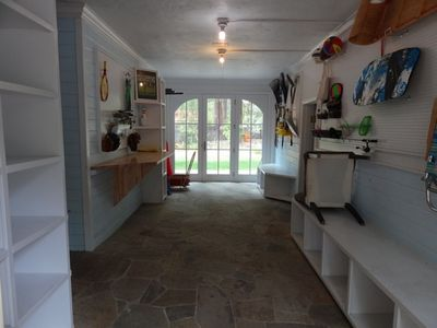 Awesome Mudroom!  Great for skis, boots, poles and snowboards.
