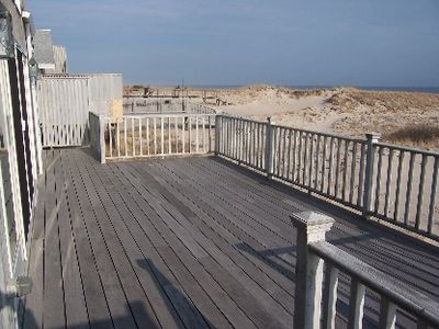 Large Deck Overlooking Ocean