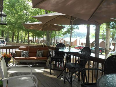 A glider for relaxing right up until it snows~bistro style seating......