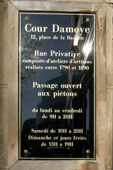 4th Arrondissement Pompidou Le Marais apartment photo - Entry sign to our historical Cour Damoye private passageway.