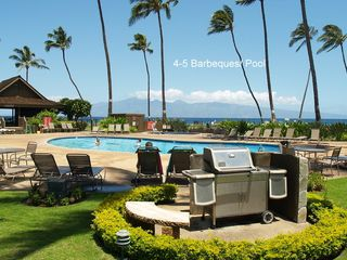 Lahaina condo photo - Six Barbecues at each pool.