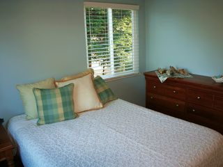 Pacific Grove house photo - Very comfortable queen in the master bedroom, with plenty of light.