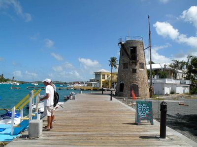 The Christiansted boardwalk has lots of great restaurants and shopping.