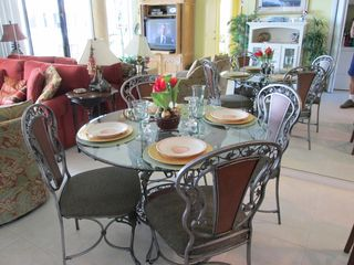 All set for an amazing evening meal. - Destin condo vacation rental photo