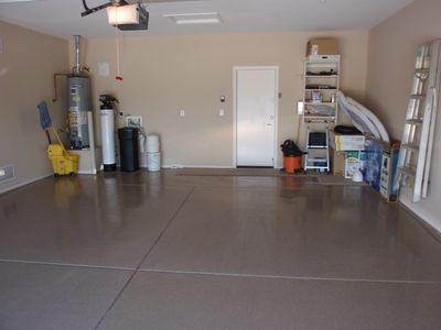 Roomy Garage W/Epoxy Floor