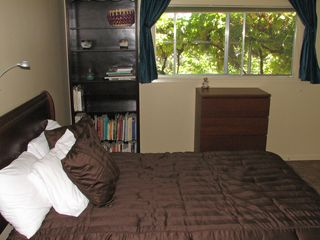 San Jose apartment photo - Bedroom includes room darkening drapes, tile & grout flooring throughout