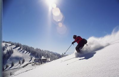 Skiing the Pow at Powder Mountain