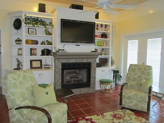 Gulf Shores house photo - Living Room has 3 sets of french doors opening to porch spanning the width house