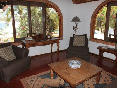 Playa Flamingo house rental - Living room at Casa de la Playa Vacation Home, Flamingo, Costa Rica
