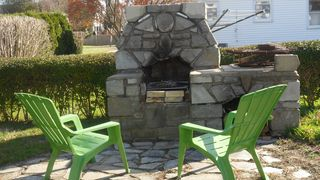 Misquamicut cottage photo - Outside Fireplace...ahhh..