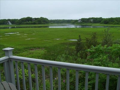 View of Centerville River and salt marsh from back deck