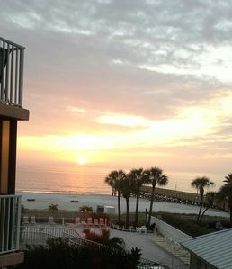Sunset view from the condo