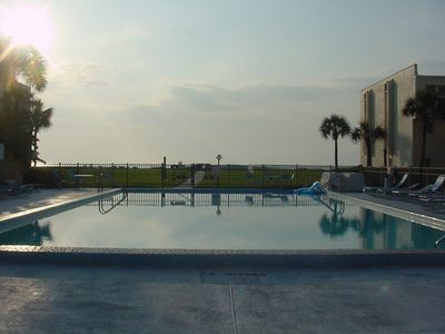 Our Sparkling Ocean-Front Pool