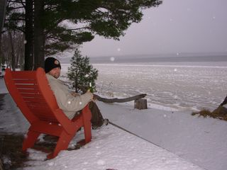 Ossipee Lake house photo - Winter is here and lake is freezing