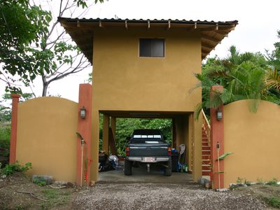 Private covered garage to Casa d'Amis One just after construction completion