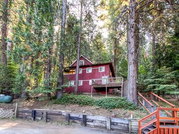 Arnold cabin rental - Elevate your Blue Springs getaway by staying in this cozy Arnold vacation rental cabin!