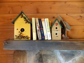 birdhouses are the theme at this secluded cabin - Muddy Pond cabin vacation rental photo